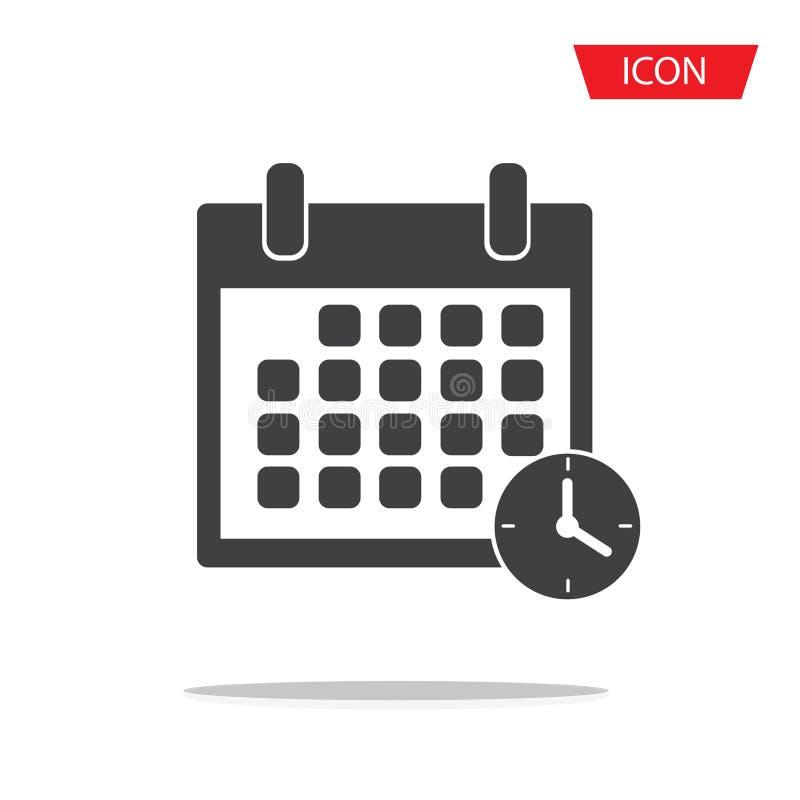 Kalendarzowe ikony wektorowe Przypomnienie czasu ikony wektor obrazy stock
