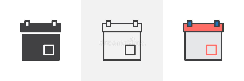 Kalendarzowego dnia ikona ilustracja wektor