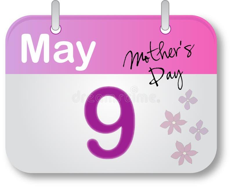 kalendarzowego dzień matki strona s ilustracji