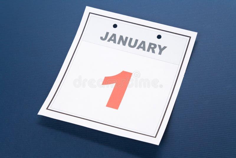 kalendarzowego dzień nowy s rok obraz stock