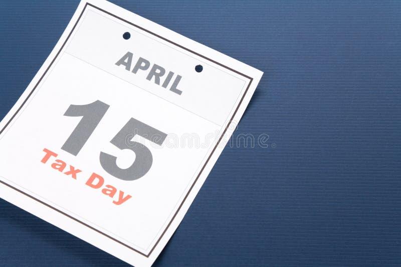 kalendarzowego dzień podatek fotografia stock