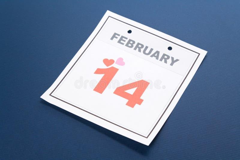 kalendarzowego dzień s valentine obraz stock