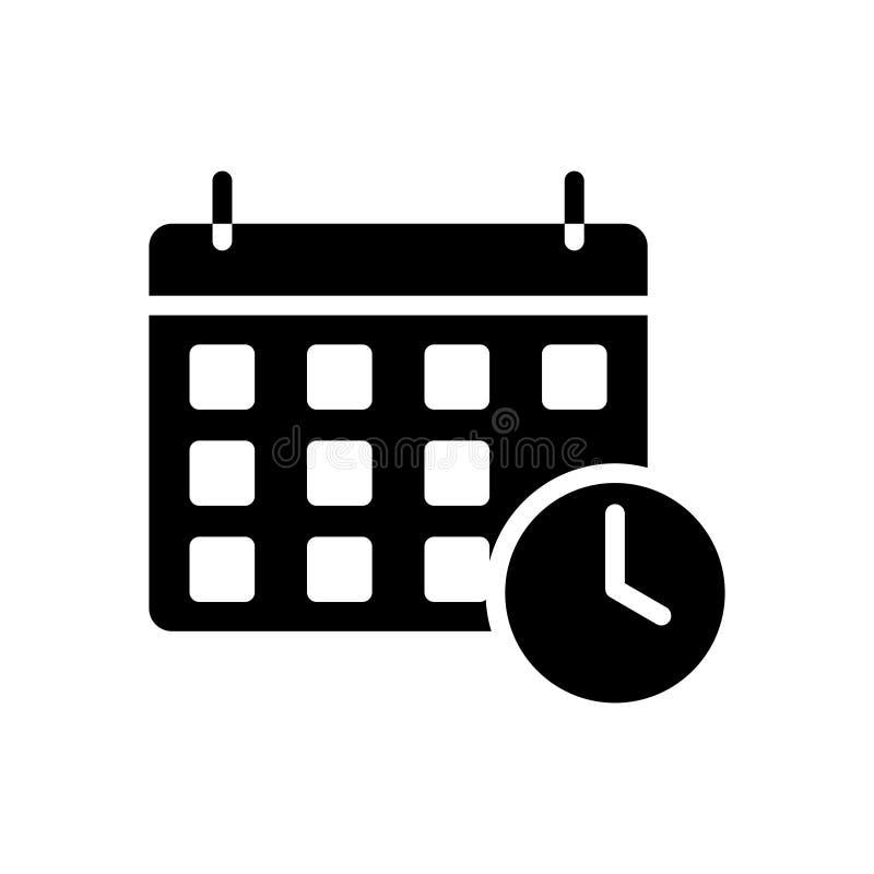 Kalendarzowego glifu płaska wektorowa ikona ilustracji