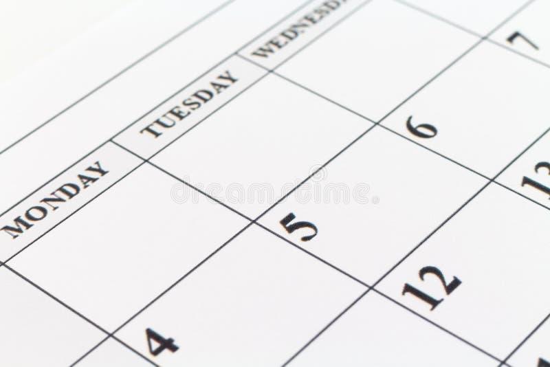 Kalendarzowej daty planisty dnia tygodnia miesiąc obrazy royalty free