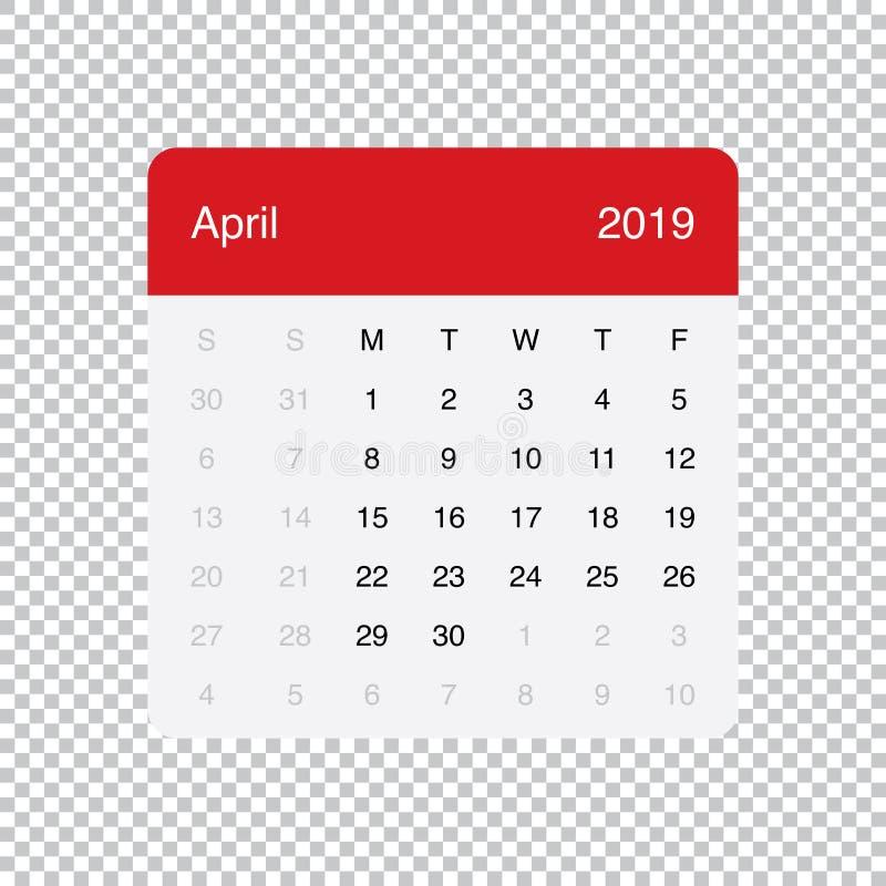 Kalendarzowi 2019 Wrze?nia Czysty Minimalny Sto?owy Prosty projekt Na Poniedzia?ek tydzie? pocz?tek ilustracja wektor