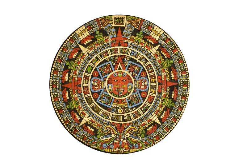 kalendarzowy święty kalendarzowy aztec columbian zdjęcia stock