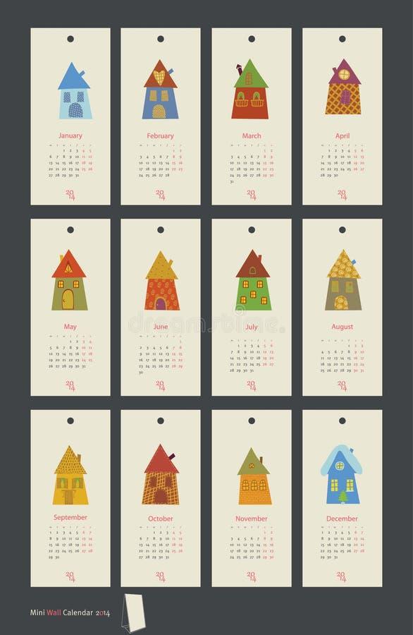 Kalendarzowy dom royalty ilustracja