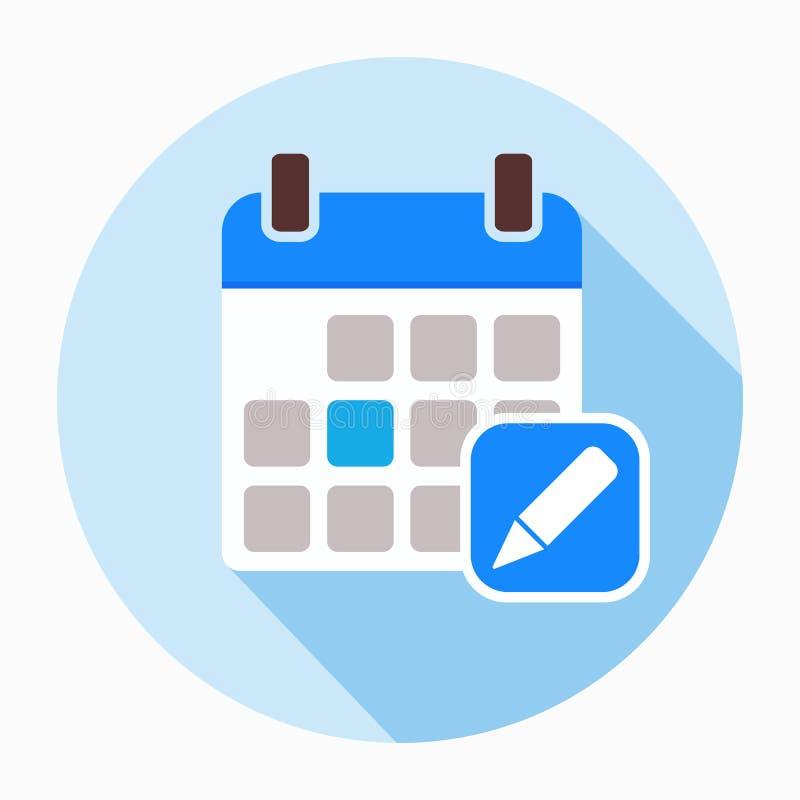 Kalendarzowy i ołówkowy ikona wektor ilustracja wektor