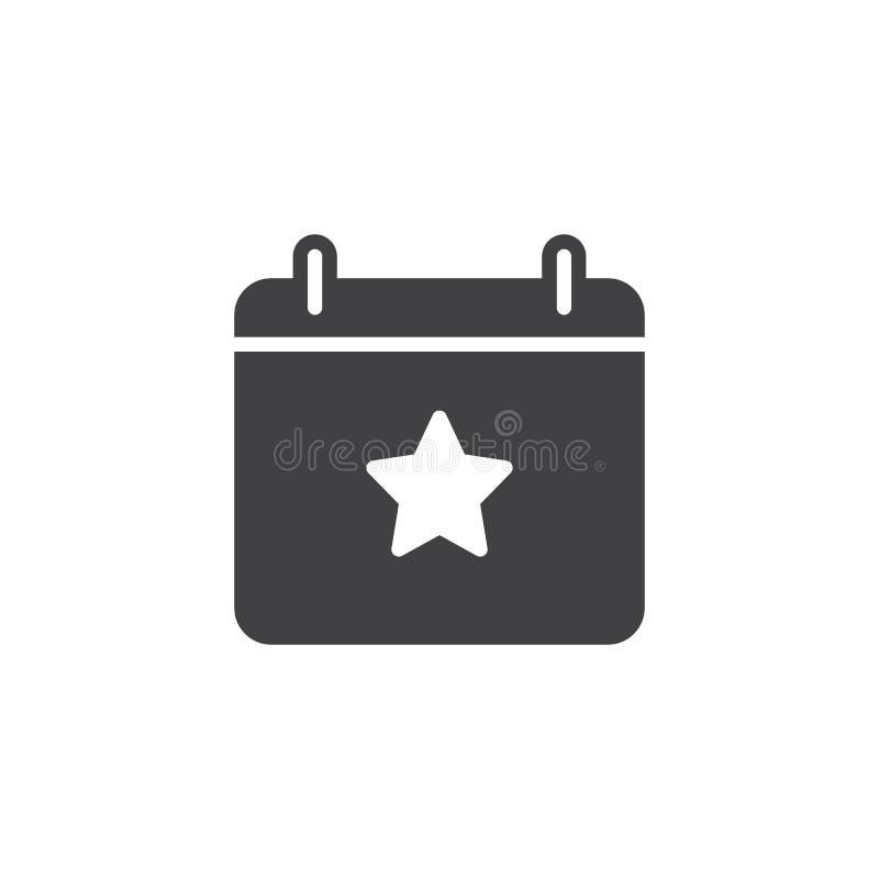 Kalendarzowy ikona wektor royalty ilustracja