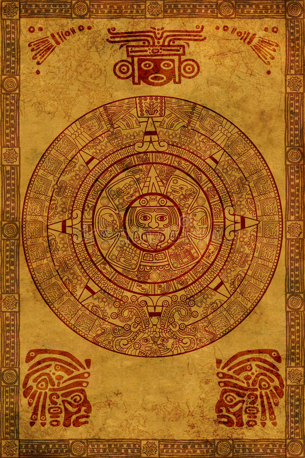 kalendarzowy majowie zdjęcie royalty free