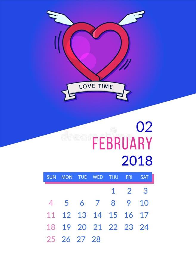 Kalendarzowy planista dla Marzec ilustracja wektor