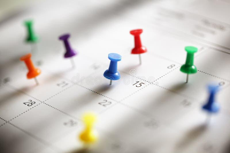 Kalendarzowy spotkanie obraz royalty free
