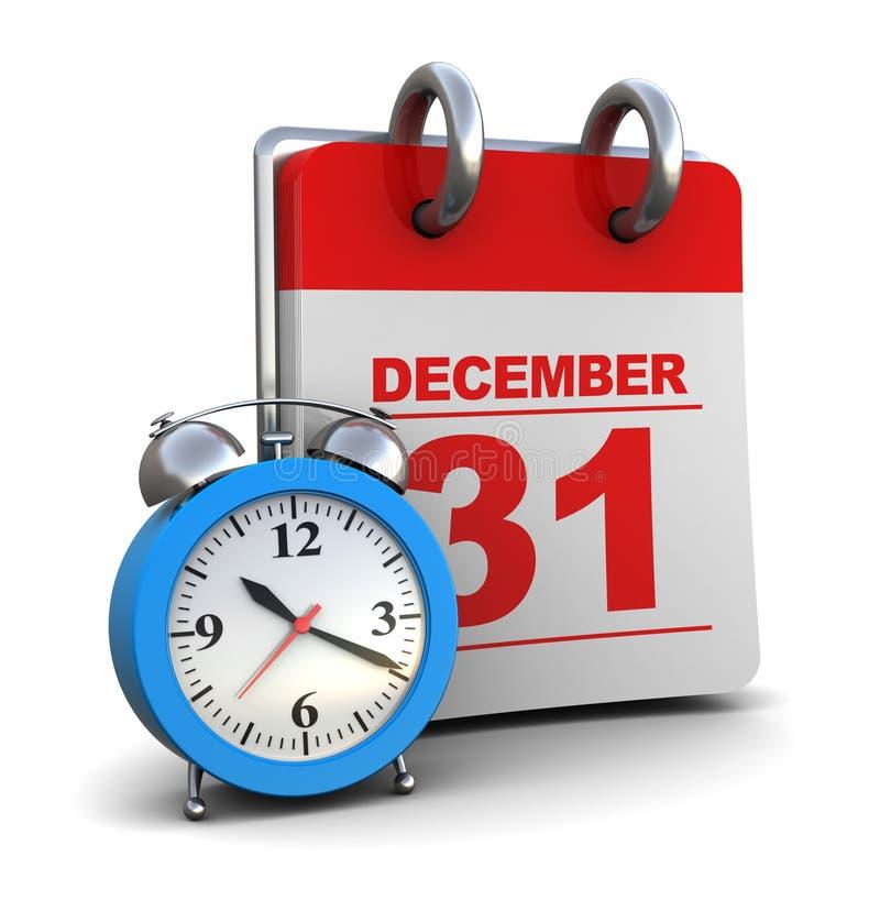 kalendarzowy zegar royalty ilustracja