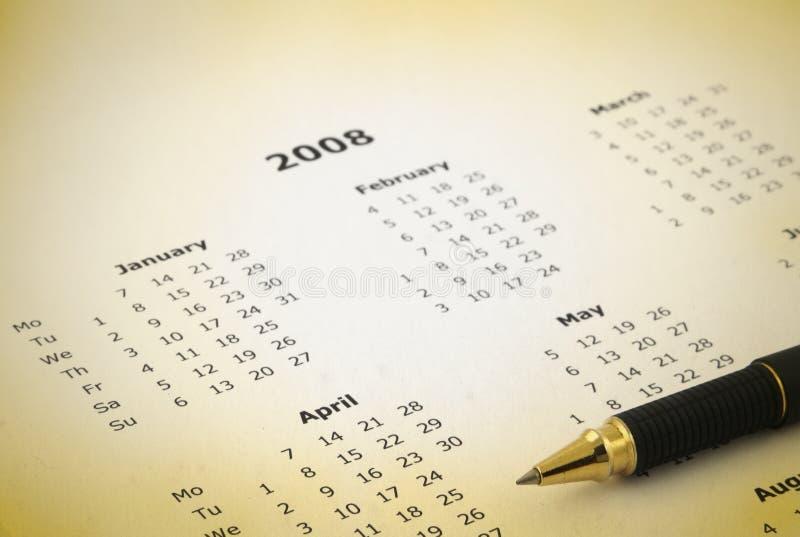 kalender årsvis royaltyfri foto