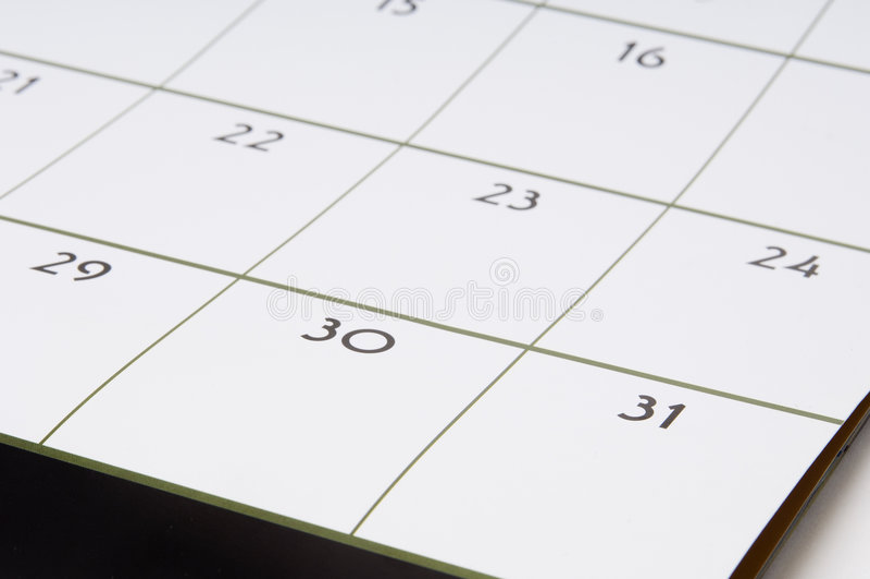 Kalender #1 royalty-vrije stock afbeeldingen