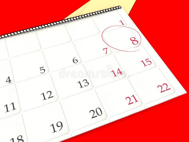 Kalender lizenzfreie stockfotografie