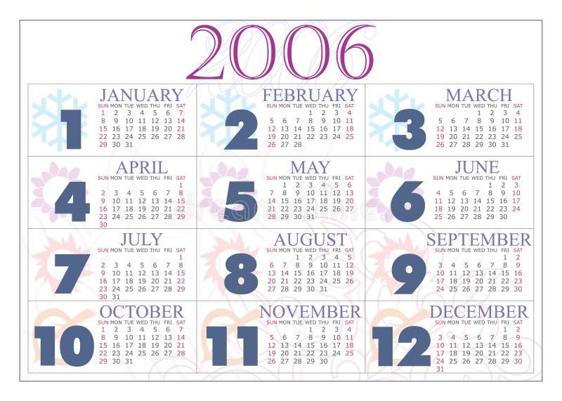 Download Kalender 2006 stock illustratie. Illustratie bestaande uit spring - 284799