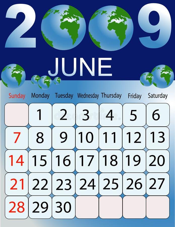 Kalender 2009 stock illustratie