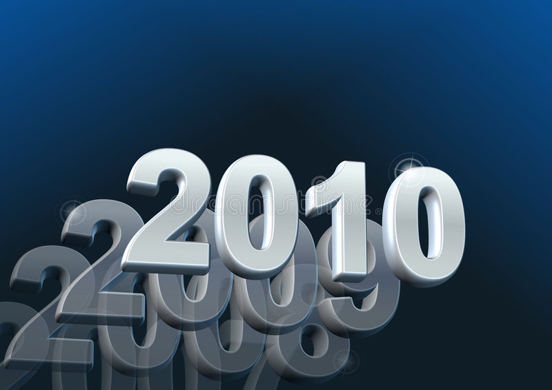 kalender 2010 royaltyfri illustrationer