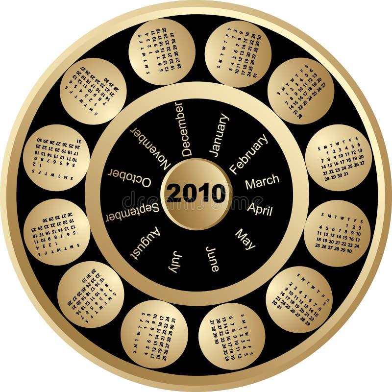 kalender 2010 stock illustrationer
