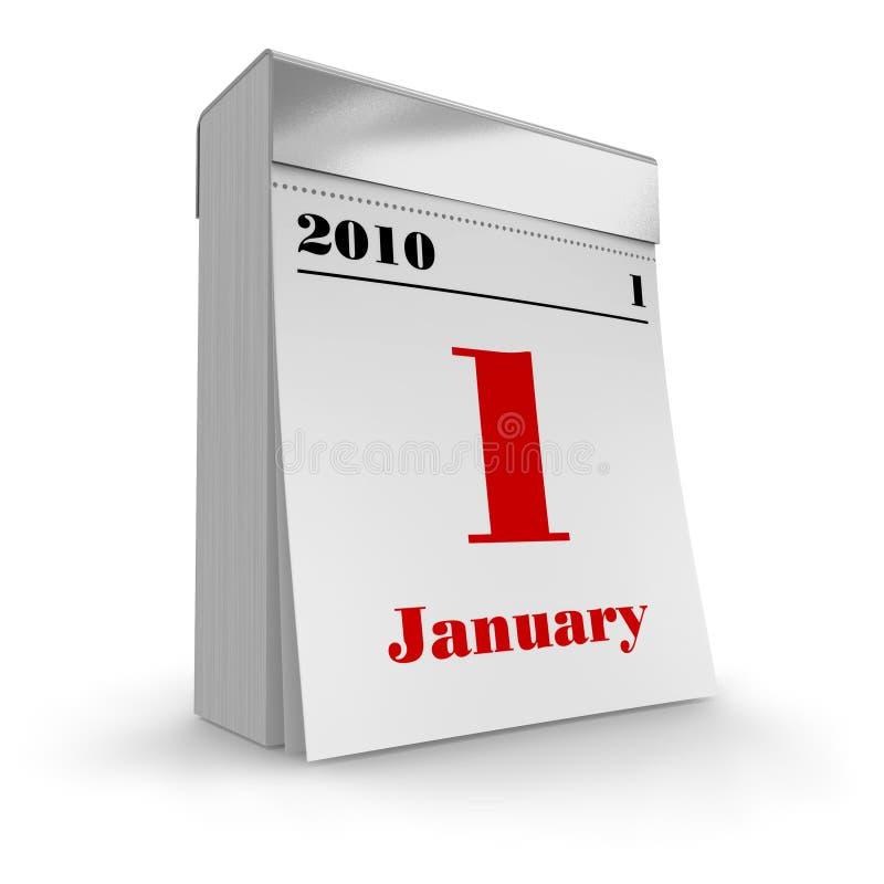 kalender 2010 av revan royaltyfri illustrationer