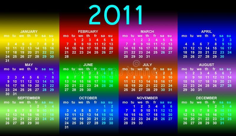Kalender 2011 royalty-vrije illustratie