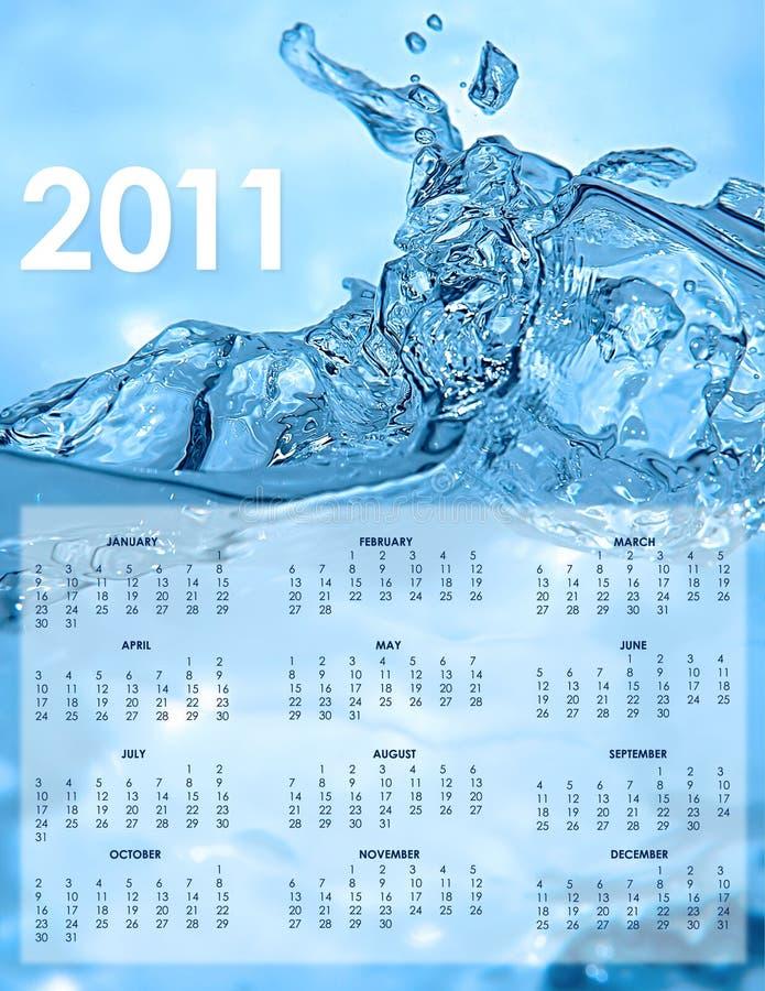 Kalender Der Gesundheit 2011 Und Der Sicherheit Vektor