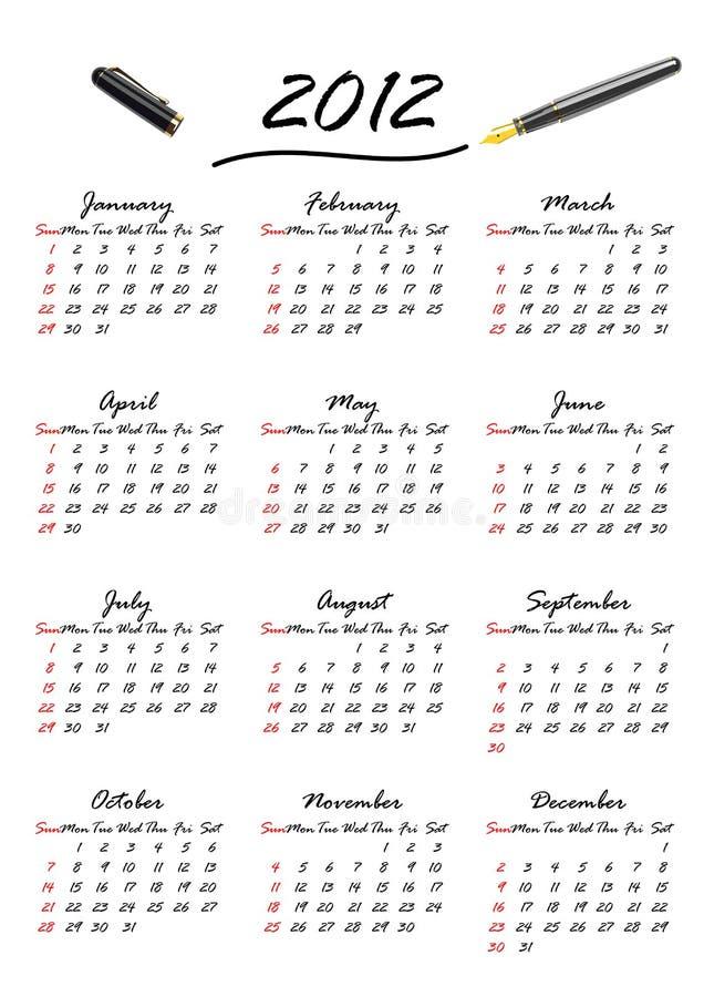 Kalender Von 2012