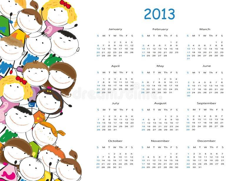 Kalender 2013 vector illustratie