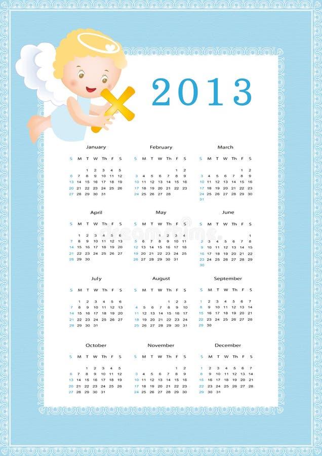 Kalender 2013 stock illustratie