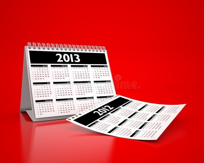 Kalender 2013 royalty-vrije illustratie