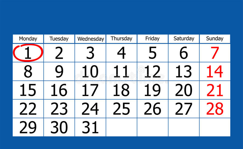 Kalender stock illustrationer