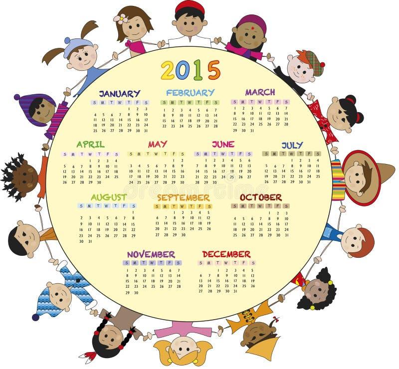 Kalender 2015 vector illustratie