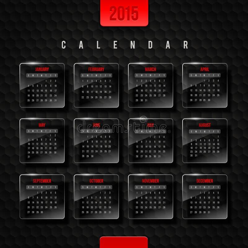 Kalender 2015 royalty-vrije illustratie