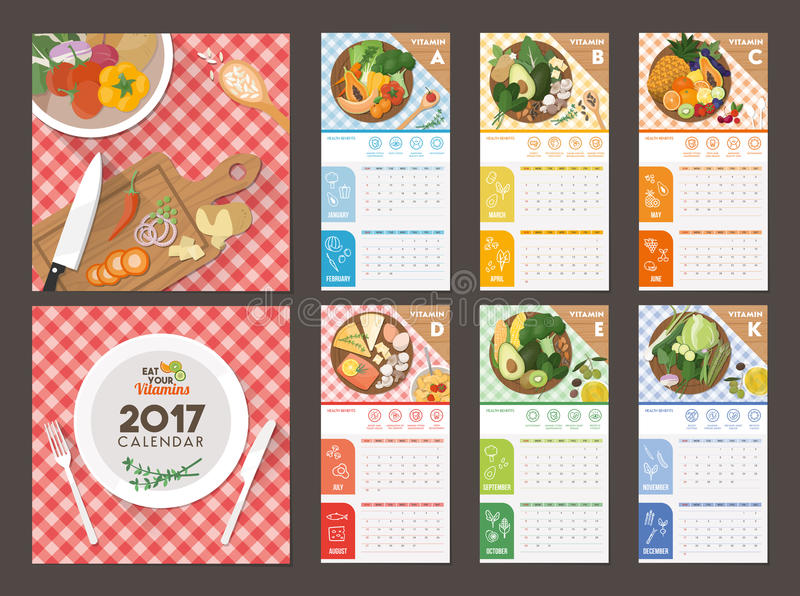 Kalender 2017 stock illustratie