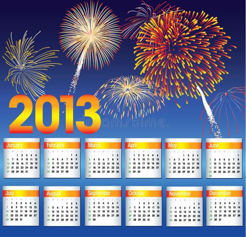 Download Kalender av 2013 vektor illustrationer. Illustration av händelse - 27280841