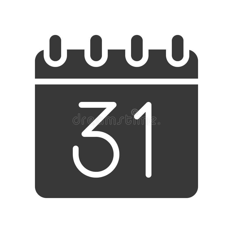Kalender av allhelgonaaftondagen, släkt allhelgonaafton, skårasymbolsdesign stock illustrationer