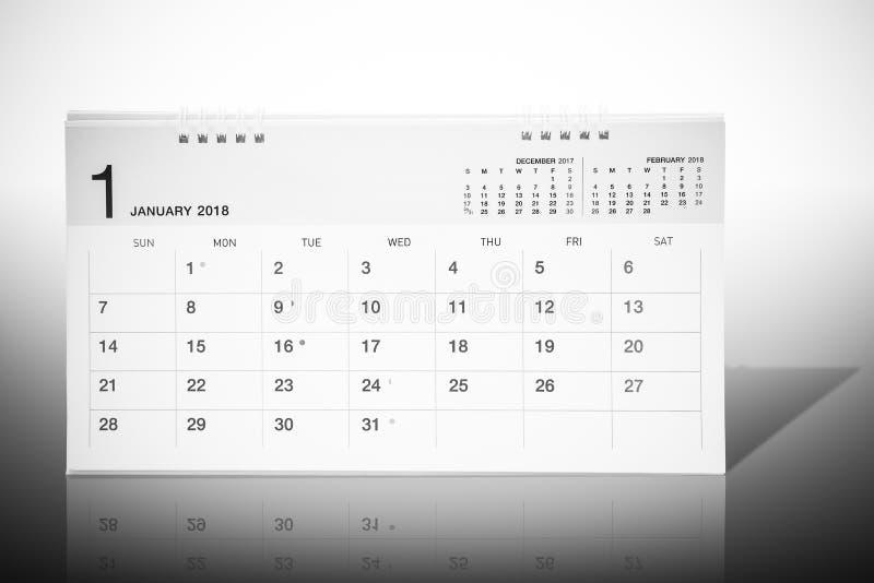 Download Kalender Av Den Januari 2018 Modellen Stock Illustrationer - Illustration av kalender, tryck: 106833679