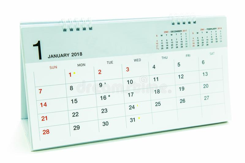 Download Kalender Av Januari 2018 Bakgrund Stock Illustrationer - Illustration av dagligt, företag: 106833192
