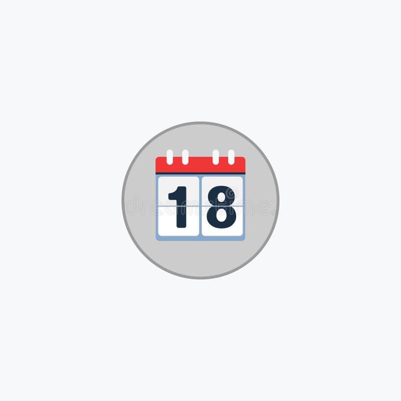 kalender dag symbol logo också vektor för coreldrawillustration 10 eps stock illustrationer