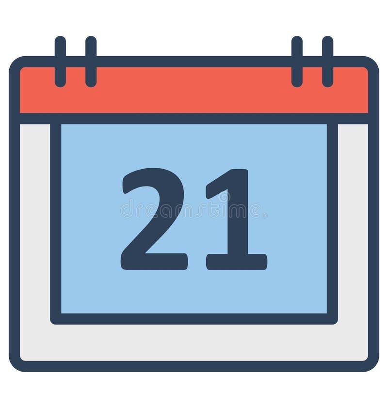 Kalender datum isolerad vektorsymbol som kan vara mycket lätt att redigera eller ändrade royaltyfri illustrationer