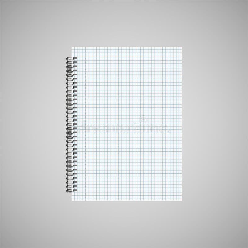 Kalender der leeren Wand, realistisches weißes Blatt Papier mit den Zellen des grauen Hintergrundes wird isoliert stock abbildung