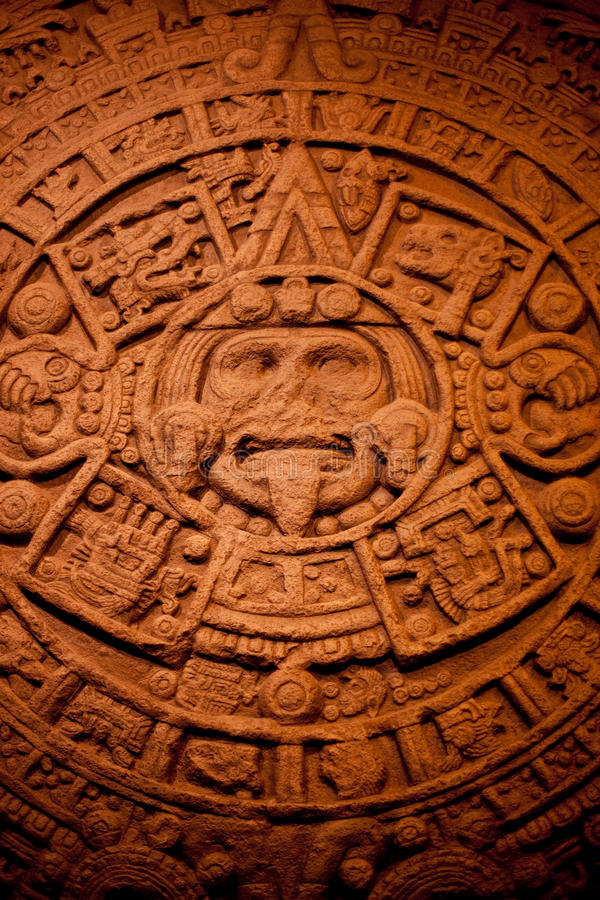 Kalender der nordamerikanischen Inder stockfoto