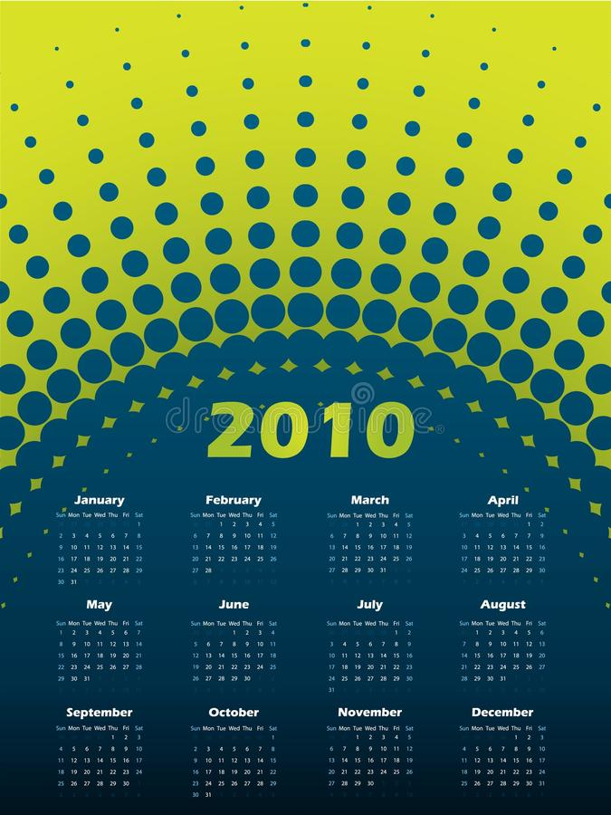 Kalender des Halbtonbild 2011 vektor abbildung