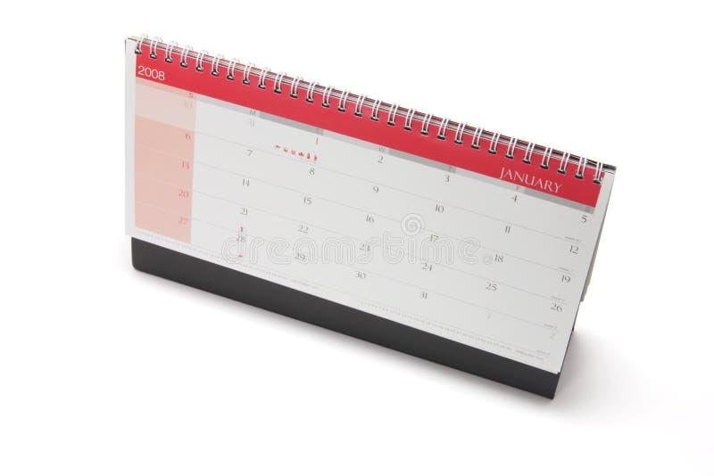 Kalender des Jahres 2008 auf weißem Hintergrund lizenzfreies stockfoto