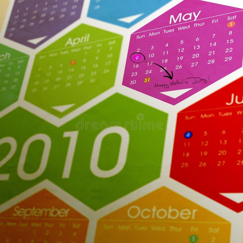 Kalender des Mutter Tages lizenzfreie stockfotografie
