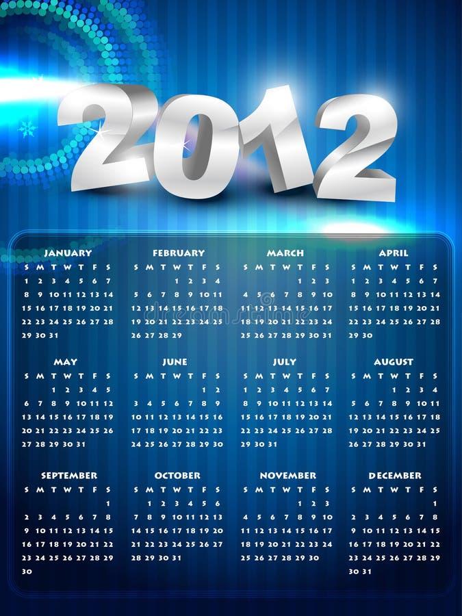 Kalender des neuen Jahres stock abbildung