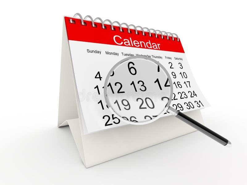 Kalender des Schreibtisches 3D stock abbildung