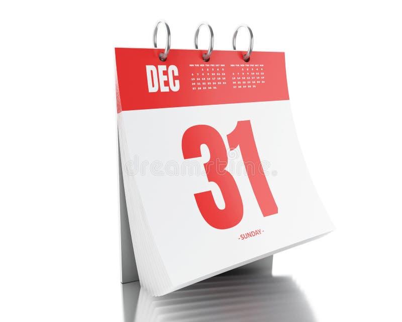 Kalender des Tag 3d mit Datum am 25. November 2017 stock abbildung