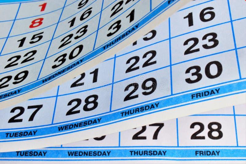 Kalender - eine Liste von Tagen des Jahres unterteilt in Wochen, Monate und Feiertage, Geschäftsplaner Kalender — Zahlensystem vo lizenzfreies stockfoto